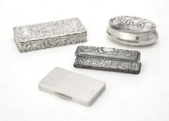 An Edwardian silver rectangular box by George Nathan & Ridley Hayes
