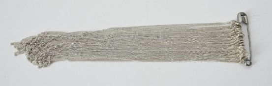 A collection of approximately 50 silver coloured curb link chains