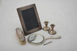 A collection of silver mounted items