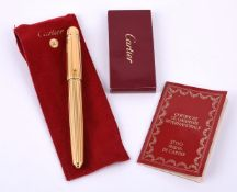 Cartier, Pasha de Cartier, a gold plated fountain pen