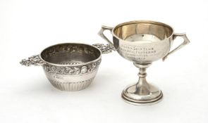 A late Victorian silver twin handled bowl by Pairpoint Brothers