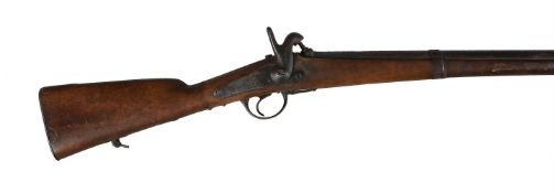 A French model 1842 military percussion lock musket