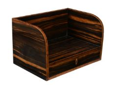 Y A calamander and tulipwood banded book trough
