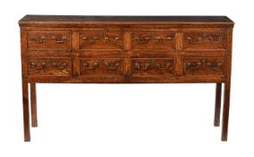 An oak dresser base