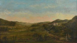 Ernst Friedrich Herbert zu Munster (1766-1839), View from the Ziegelberg onto Derneburg Schloss