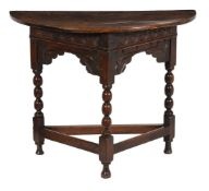 An oak side or credence table