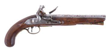 A flintlock officer's pistol by Henry Nock