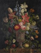 French School (early 19th century), Still life of flowers in a vase