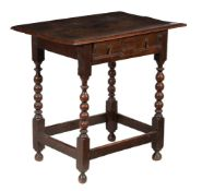 A William & Mary oak side table