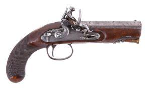 A John Harcourt of Ipswich (1780-1830) flintlock travelling pistol