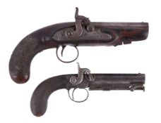 Two percussion-lock travelling pistol