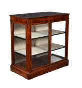 A flame mahogany and glazed display cabinet