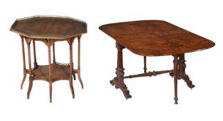 A Victorian figured walnut Sutherland table