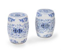 A pair of Chinese ceramic garden seats