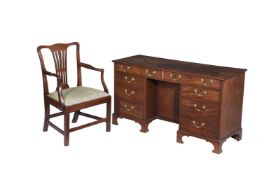 A George III mahogany desk
