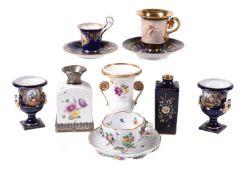 A selection of German porcelain