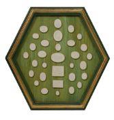 A framed set of 31 plaster intaglios
