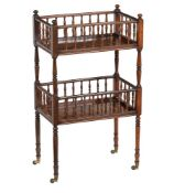 Y A Regency rosewood two tier whatnot