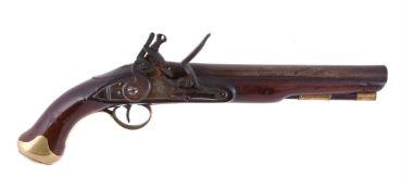 A British flintlock cavalry pistol