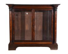 Y A rosewood side cabinet