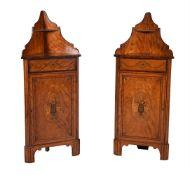 Y A pair of George III satinwood