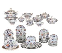 A Hicks, Meigh & Johnson Stone China Chinoiserie part dinner service
