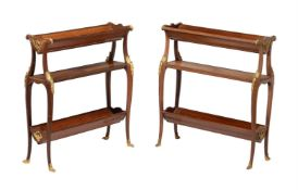 Y A pair of French mahogany