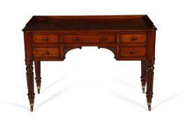 A William IV mahogany dressing table