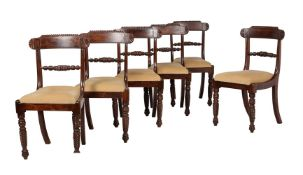 A set of six William IV dining chairs