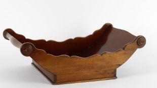 A 19th century mahogany cheese coaster