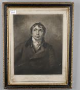 Two portrait prints including John Jacobe after Joshua Reynolds, 'Mary Meyer as Hebe'