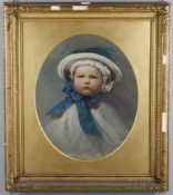 19th century English school overpainted photograph portrait of James Willan Watts (1858-1859)