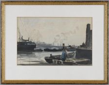 λ Claude Muncaster (1903-1974), 'High Tide Pool of London, 1924'