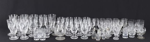 Glass including a mid/late 20th century clear glass part drinking glass service