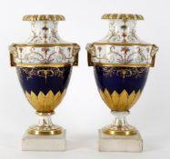 A pair of Paris porcelain vases