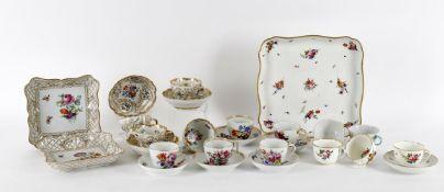 European porcelain tea wares