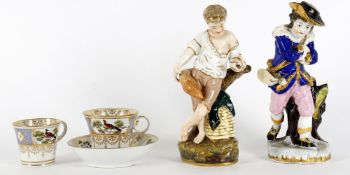 Ceramics to include two porcelain figures emblematic of Summer and Winter