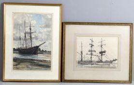 λ Claude Muncaster (1903-1974), 'Study of a barque'