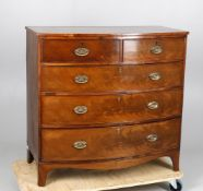 An early Victorian mahogany bowfront chest of drawers
