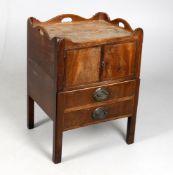George III mahogany bedside commode