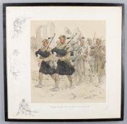 Charles Johnson Payne 'Snaffles' (1884-1967), 'The Bonnie Blue Bonnets Frae Ower The Border'