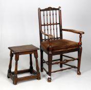 An oak joint stool