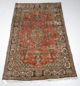 A Kashan or Indian rug