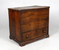 A mid-18th century oak box chest