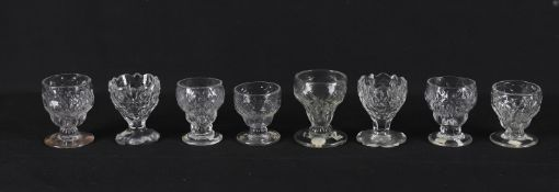 19th century glass to include six bonnet glasses