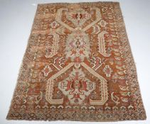 A 19th century Ushak style small rug
