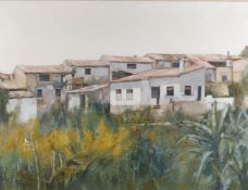 Francisco Sillue (Spanish 1936), 'Houses in a landscape'