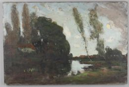 George Grosvenor Thomas RSW (1856-1923), 'Landscape with river'