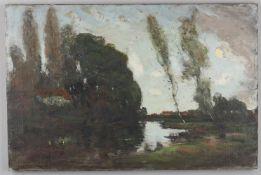 George Grosvenor Thomas RSW (1856-1923), 'Landscape with river'