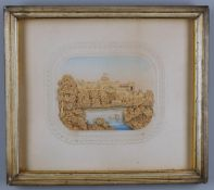 A set of four late 19th cork dioramas